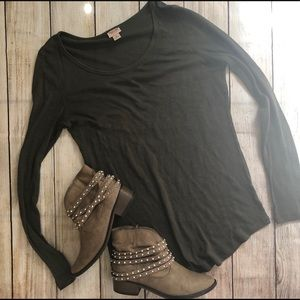 Mossimo olive green layering thermal